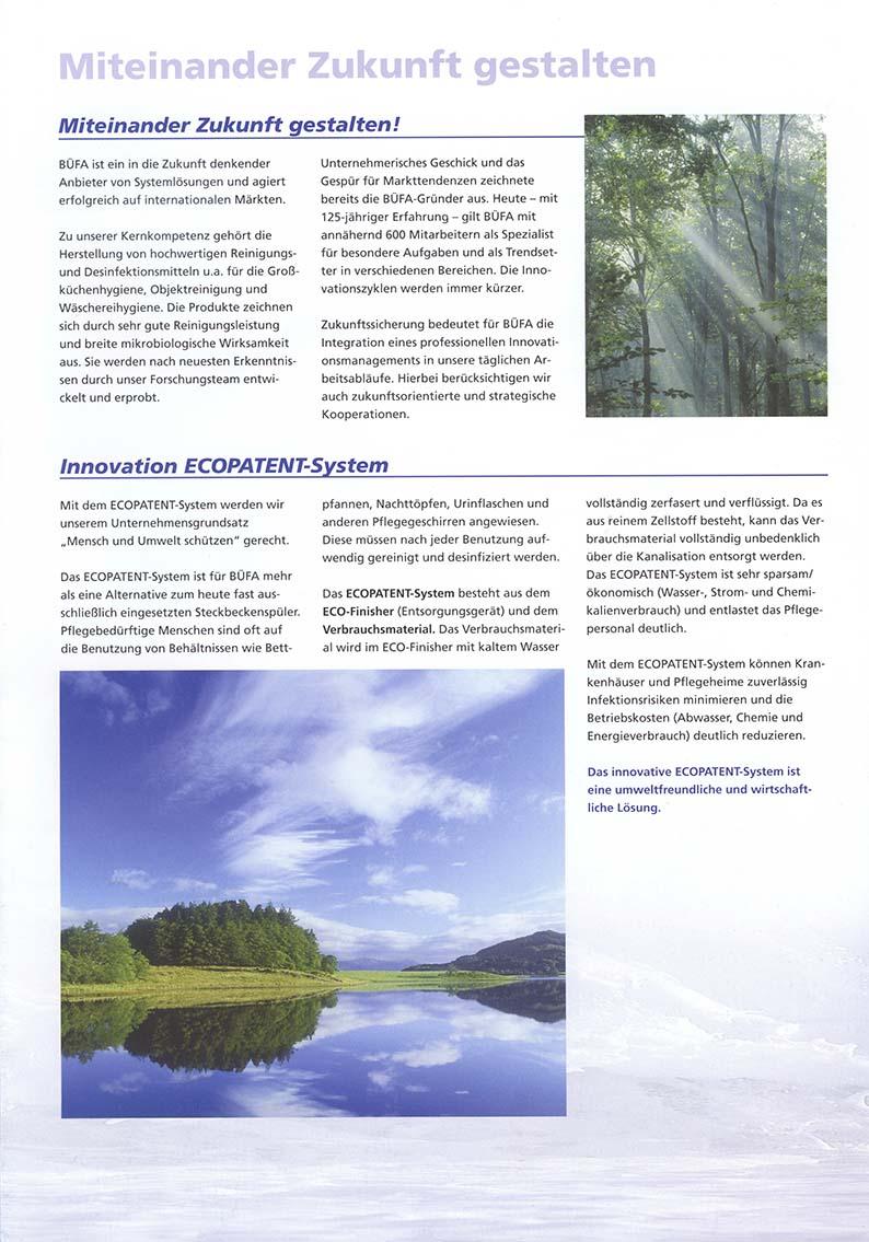 Miteinander Zukunft gestalten / Innovation ECOPATENT®-System