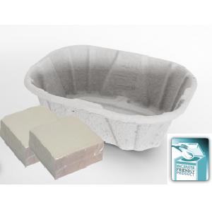 ECOPATENT® Recycled Paper Waschschüssel SET-EC72449